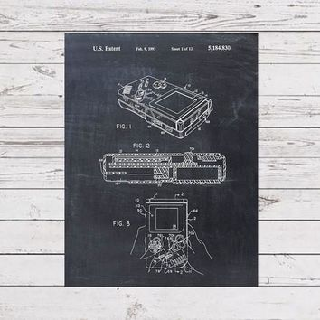 Patent Print - Nintendo Game Boy Patent Art Poster Blueprint