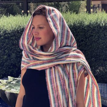Mexican Rebozo Shawl - Colorful Harmony