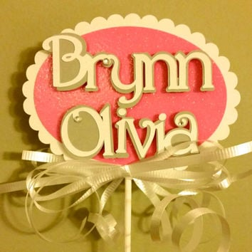 First Communion, Baptism, Christening Decorative Stick, Personalized Centerpiece, Table Decoration, Celebration, Baby Name, God Bless, Cross