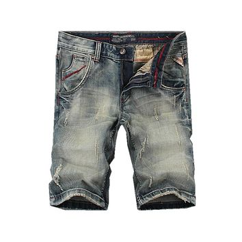 SHORTS Mens Ripped Short Jeans Clothing Summer 98% Cotton Shorts S Denim Shorts