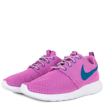 Nike Womens Roshe Run - Red Volt Green Abyss Wolf Grey White 014624a1e