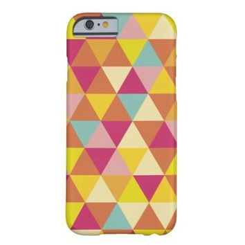Triangles Geometric Colorful Barely There iPhone 6 Case