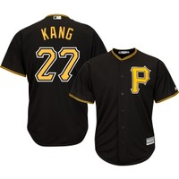 Majestic Men's Replica Pittsburgh Pirates Jung-ho Kang #27 Cool Base Alternate Black Jersey | DICK'S Sporting Goods