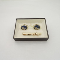 Vintage Stratton Cufflinks and Tie Clip Set, Stratton Cufflinks and Tie Clip Fish, Fish Cufflinks and Tie Clip