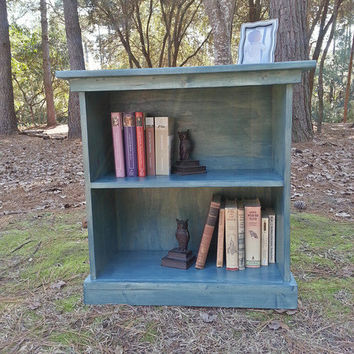 Rustic Cottage Wood Bookcase
