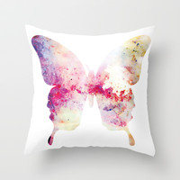 Butterfly Throw Pillow by C Designz
