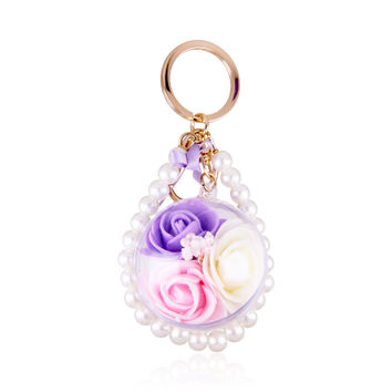 Garden Manor Carve Flower with Soap Keychain