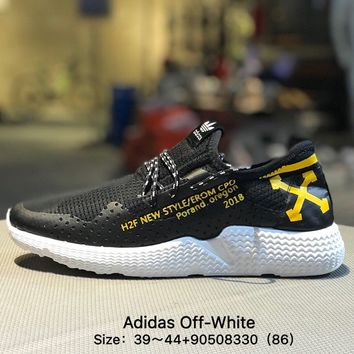 Adidas Off-White S31522 Classic Men Black Yellow Causel Sport Shoes Sneaker