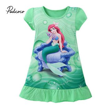 Pudcoco 2017 Baby Girl Dress Clothes Snow Print Girls Dress 3 Color Summer 2017 Costume Casual Clothes