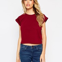 ASOS The Cropped T-shirt with Pocket