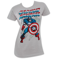 Captain America Action Pose Women's Shirt | TeesForAll.com
