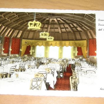 Vintage Crown Room Main Dining Room Hotel del Coronado Postcard