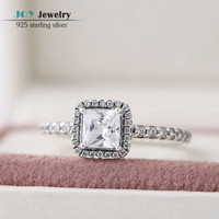 2015 Autumn Clear Cz Micro Pave Timeless Elegance Ring 925 Sterling Silver Rings For Women Compatible With Pandora Style jewelry
