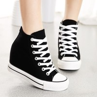 Black Superstar Wedges Sneaker