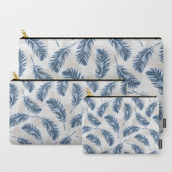 My blue feathers Carry-All Pouch by Juliagrifol Designs