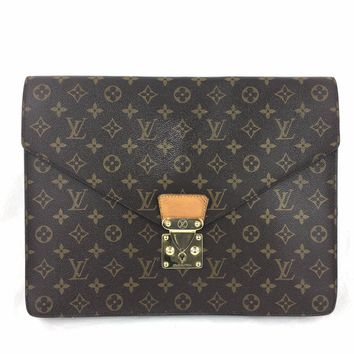 LOUIS VUITTON Monogram Porte Documents Clutch