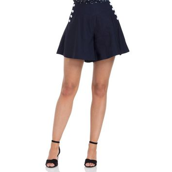 Polly Navy Swing Shorts