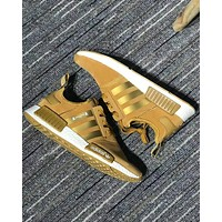 Adidas NMD X OFF-WHITE Trending Women Men Leisure Running Sports Shoes Sneakers Gold I-CQ-YDX