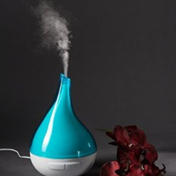 QUOOZ Lull Ultrasonic Aromatherapy Essential Oil Diffuser -Ultrasonic Diffusion w/ Auto Shut-Off, Custom Light Settings for Relaxation, Peace of Mind, Healthy Body & Spirit - 200 ml, 8-10 hrs