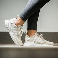 Best Online Sale Adidas NMD R1 Talc/Off-White Boost Sport Running Shoes Classic Casua