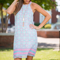 So Presh Dress, Aqua-Pink