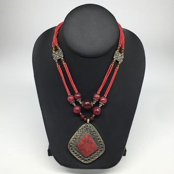 Turkmen Necklace Afghan Antique Tribal Fashion Multi Strand Beaded Necklace S132