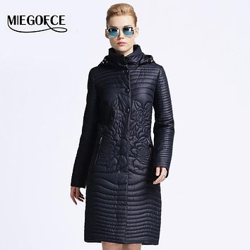 MIEGOFCE 2016 New spring jacket women coat winter Medium-Long Cotton Padded warm Quilting Parka High Quality EuropeStyle outwear