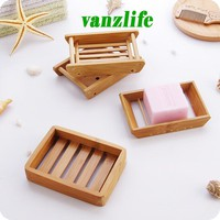 creative handmade soap holder draining soap box simple bamboo bathroom toilet soap box Japanese wooden soap holder