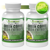 (2 Bottles) Life & Food Super Pure Green Coffee Bean Extract 800 Mg | 100% Pure and Natural w/ Chlorogenic Acid