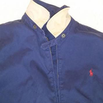 Vintage Mens Polo Ralph lauren jacket full zip navy size L