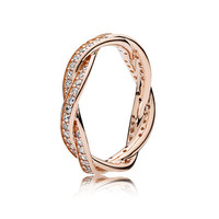 PANDORA | Twist of Fate, PANDORA Rose™ & Clear CZ