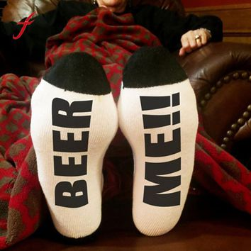 Beer Me Low Cut Ankle Socks Funny Crazy Cool Novelty Cute Fun Funky Colorful - Socks Funny Crazy Cool Novelty Cute Fun Funky Colorful