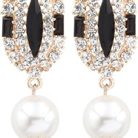 Big Tree Cleo 18K Yellow Gold Plated Crystal Alloy Drop Earring Price in India - Buy Big Tree Cleo 18K Yellow Gold Plated Crystal Alloy Drop Earring Online at Best Prices in India | Flipkart.com