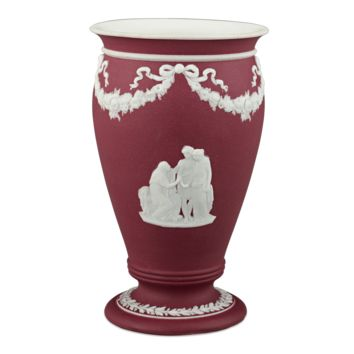Antique Porcelain, Wedgwood, Crimson Dip Jasper Vase at rauantiques.com