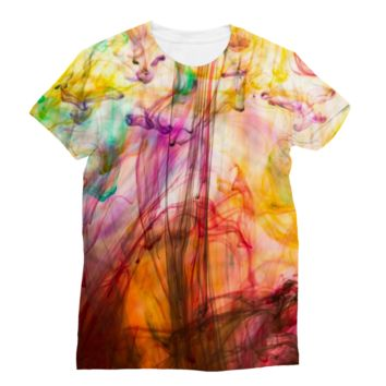 Multicolored Fumes in Water Subli Sublimation T-Shirt