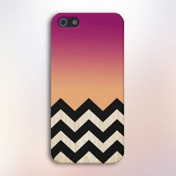 Mulberry to Peach x Wood Chevrons Design Case for iPhone 6 6 Plus iPhone 5 5s 5c iPhone 4 4s Samsung Galaxy s5 s4 & s3 and Note 4 3 2