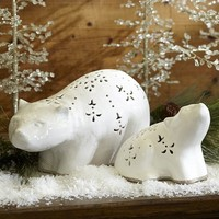 CERAMIC POLAR BEARS