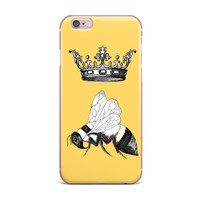 """Catherine Holcombe """"Queen Bee"""" Canary Yellow iPhone Case"""