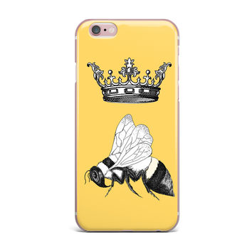 "Catherine Holcombe ""Queen Bee"" Canary Yellow iPhone Case"