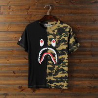 'AAPE' Tide brand camouflage short sleeves men and women loose street hip hop [10425655943]