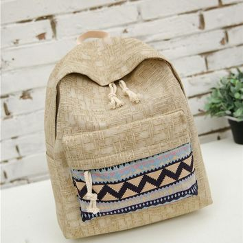 Ethnic Canvas Backpack