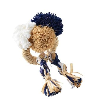 Fiesta Napkin Ring S/4 | Natural+Blue