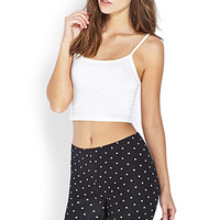 FOREVER 21 Dots & Lace Bike Shorts