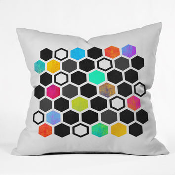 Elisabeth Fredriksson Hexagons Throw Pillow