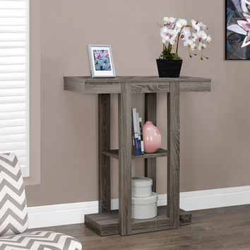 "I 2456 Dark Taupe Reclaimed-Look 32""L Hall Console Accent Table"