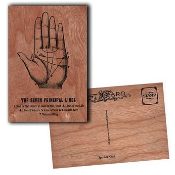 Wood Postcard Palmistry