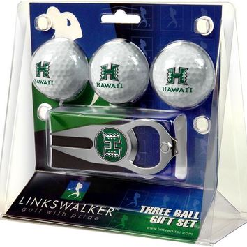 Hawaii Warriors 3 Ball Gift Pack with Hat Trick Divot Tool