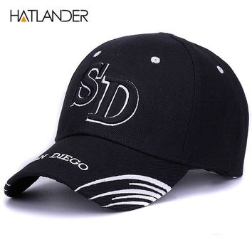 Casual Outdoor sports caps unisex hip hop golf hats Adjustable 3D letters embroidered black baseball cap hat