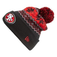 Men's New Era Cap 'Snowburst - NFL San Francisco 49ers' Pom Knit Cap