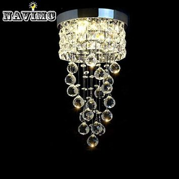 Modern Led Small Crystal Chandelier Lighting Ceiling Lamp for Kitchen Bathroom Closet Bedroom Decorative Lamp 20cm Diameter